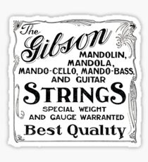 Gibson Mandolin Strings Vintage Ad Art Sticker
