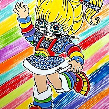 Sugar Skull Rainbow Brite by KittyOG1