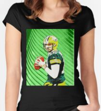 Aaron Rodgers  Women's Fitted Scoop T-Shirt