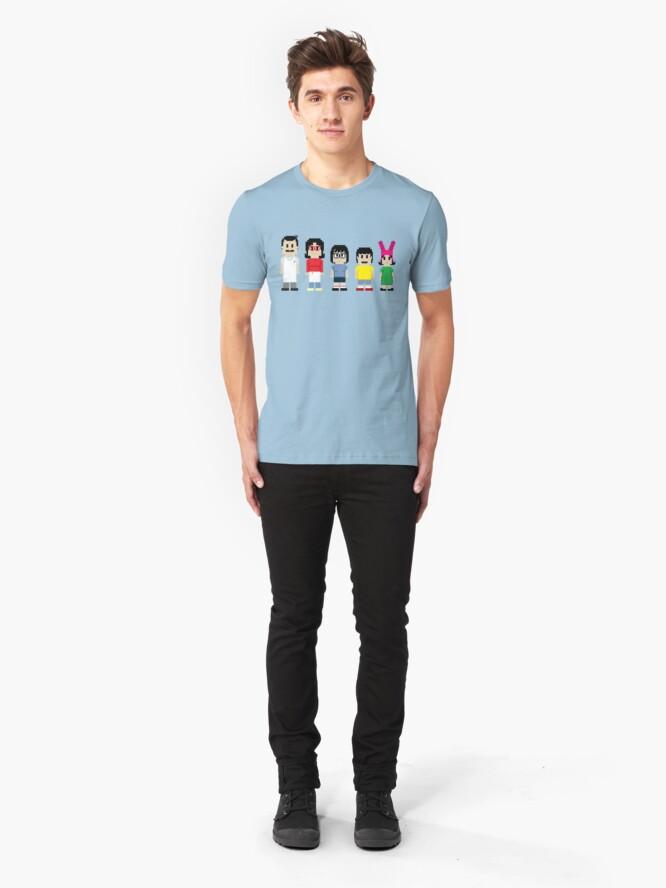 Alternate view of 8-Bit Burger Pun Slim Fit T-Shirt