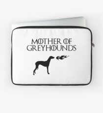 Mother of Greyhounds (Black) Laptop Sleeve