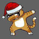 Abtupfendes Katzen-Hemd scherzt Sankt-Hut Weihnachtskatzen-Liebhaber-Hemd von vomaria