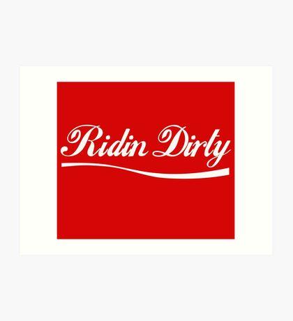 Ridin Dirty Cola swoosh Art Print