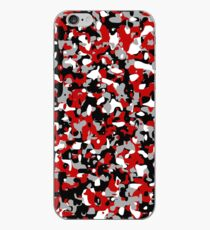 Cooles rotes Camouflagemuster iPhone-Hülle & Cover