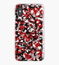 Cool red camo pattern iPhone Case/Skin