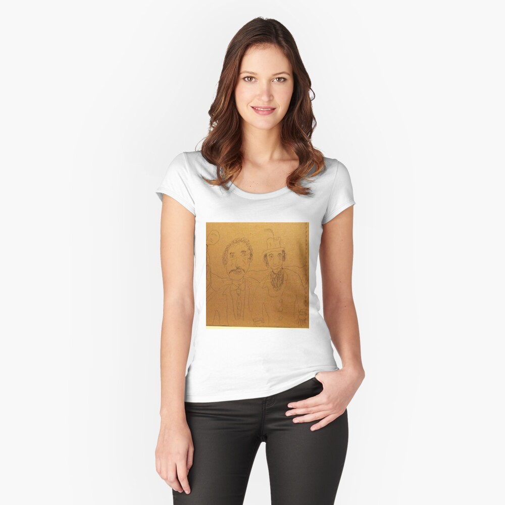 A day at the races Women's Fitted Scoop T-Shirt Front