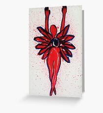 12 Armed Woman Protecting Her Heart Greeting Card