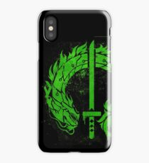 Cyborg Ninja Dragon Stencil iPhone Case/Skin