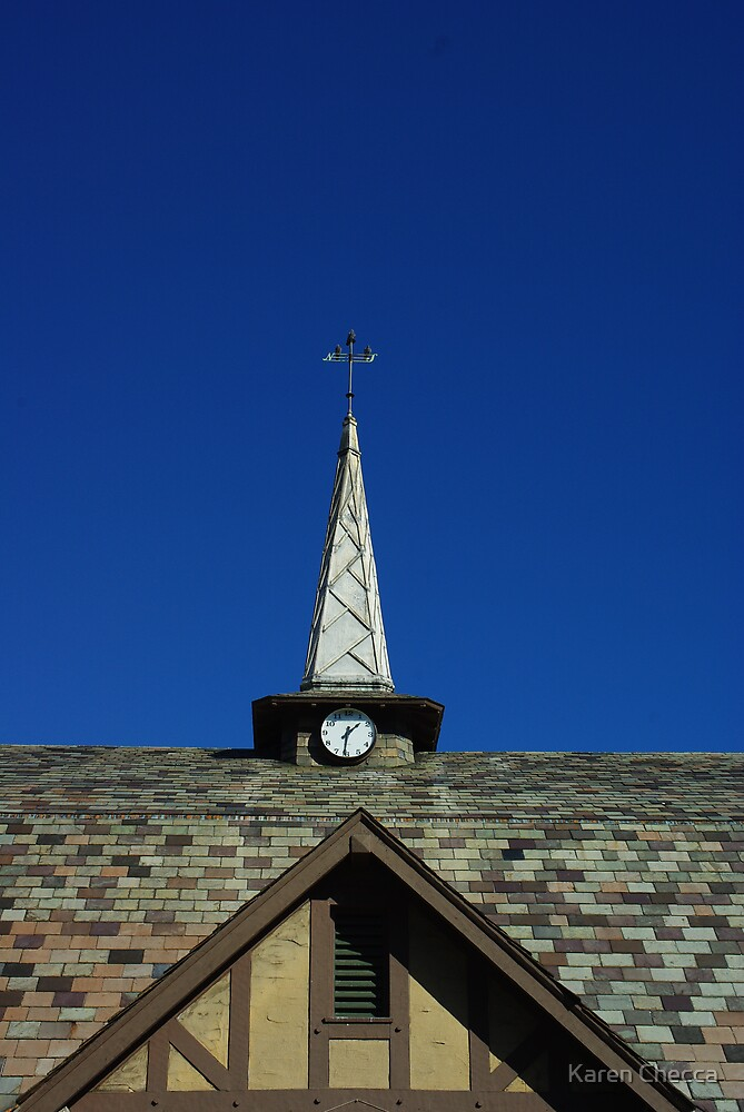 Slate Roof with Steeple by Karen Checca