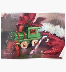 Christmas Toy Train Poster
