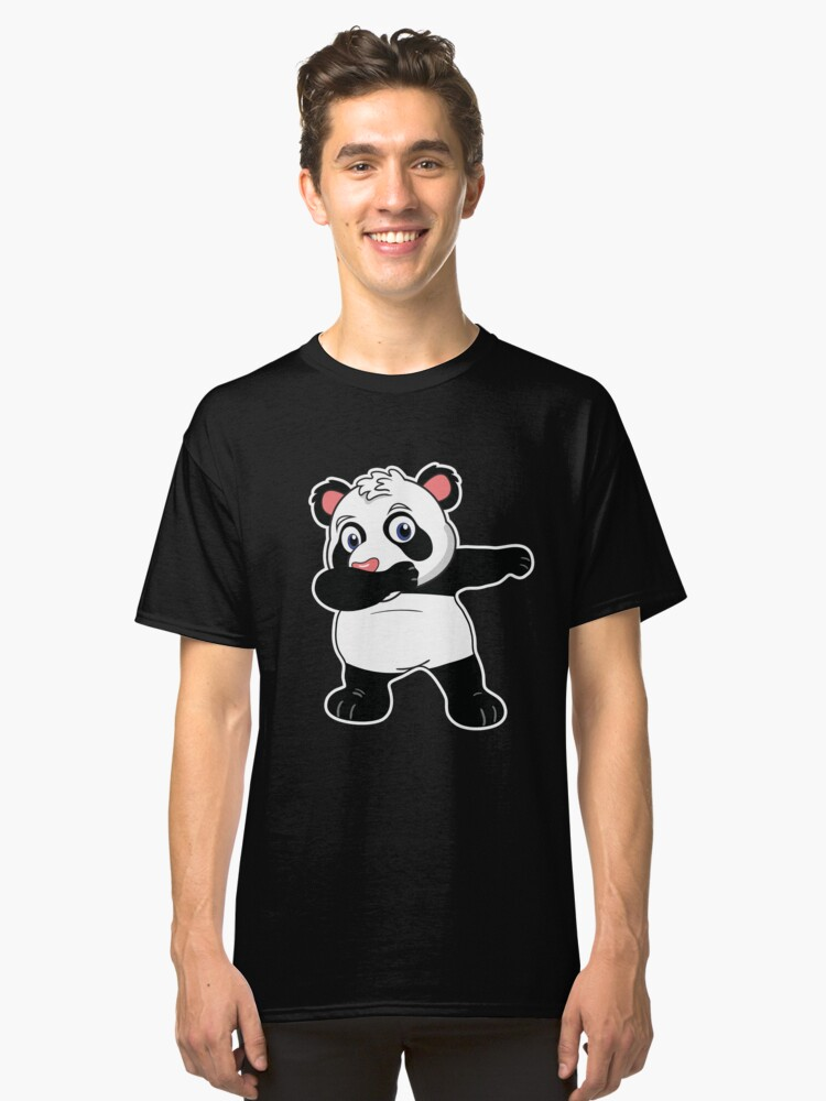 Panda Dabbing  Christmas  Cute Funny Bear  Unipanda  Calus Hat  Holiday Party T-Shirt Sweater Hoodie Iphone Samsung Phone Case Coffee Mug Tablet Case Gift Classic T-Shirt Front
