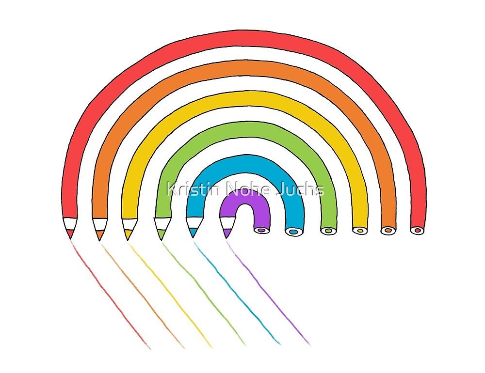 Pencil Rainbow by Kristin Juchs