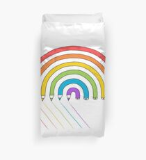 Pencil Rainbow Duvet Cover