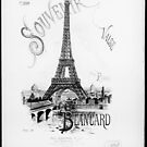 Eiffel Tower 1889 Exposition Souvenir Paris France by T-ShirtsGifts