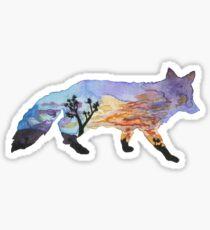 Fox Silhouette - Joshua Tree National Park California  Sticker