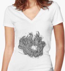 underwater Women's Fitted V-Neck T-Shirt
