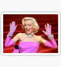 Marilyn Monroe In Gentlemen Prefer Blonde Sticker