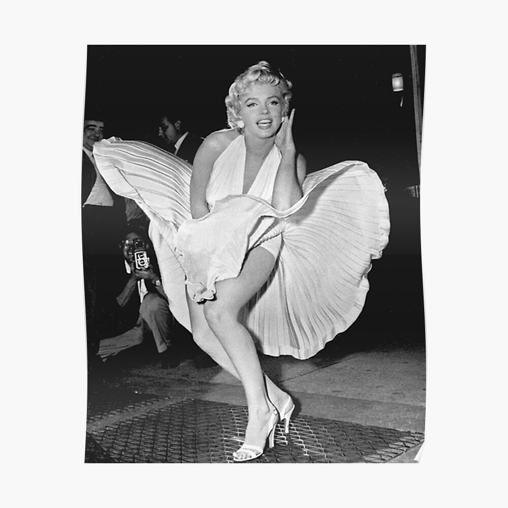 Marilyn Monroe Photo Pose Poster