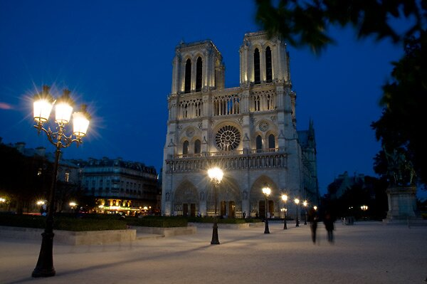 Notre Dame at night by Amber Morey Wu