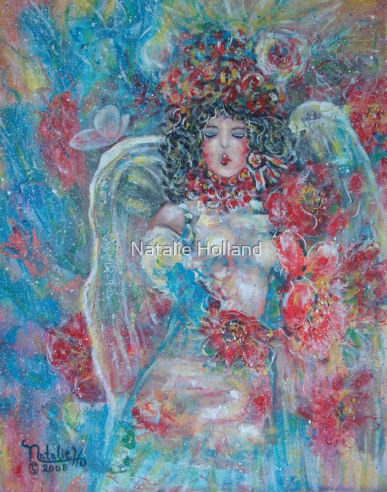 Singing Garden Angel by Natalie Holland