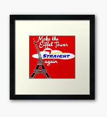 Epcot Make Eiffel Tower Straight Again Framed Print