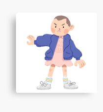 Eleven - Stranger Things + Sticker pack  Canvas Print