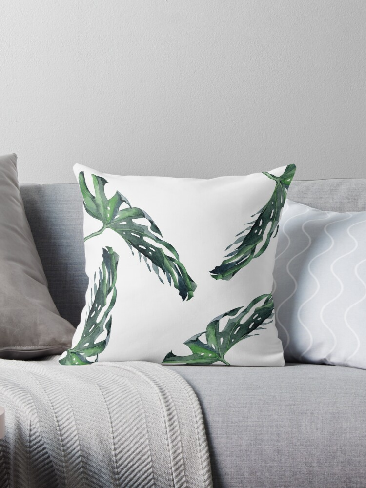 Classic Green Tropical Monstera Leaf on White III by SimpleLuxe