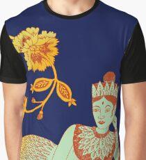 Flower Devi Green Goddess Graphic T-Shirt