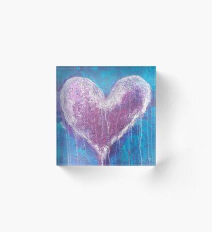 Love Heart Acrylic Block
