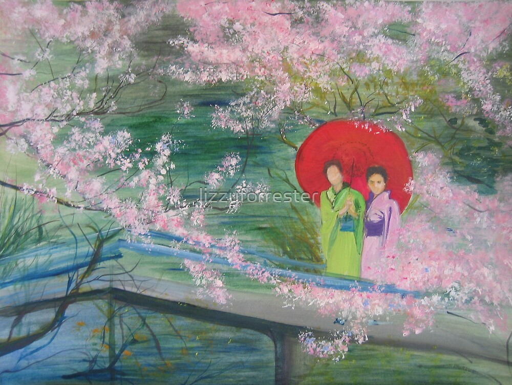 Geishas in the Park by lizzyforrester