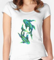 Fish Tales Women's Fitted Scoop T-Shirt
