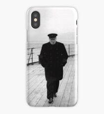 Winston Churchill At Sea  iPhone Case/Skin