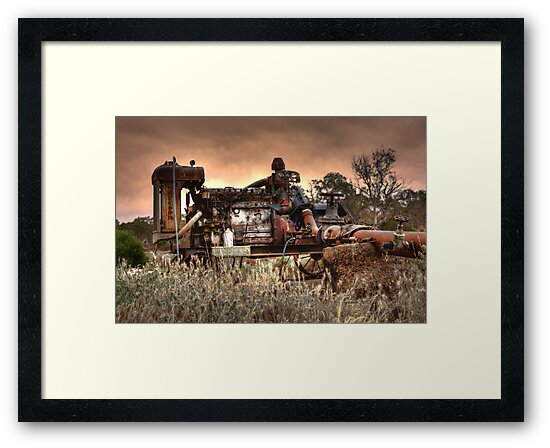 Old Fordson Pump by Dave  Hartley