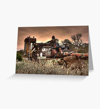 Old Fordson Pump Greeting Card