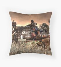 Old Fordson Pump Throw Pillow