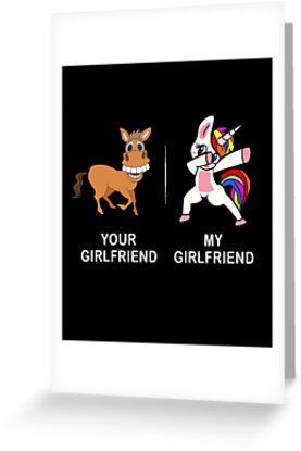 Your Girlfriend My Funny Cute Dabbing Unicorn T Shirt