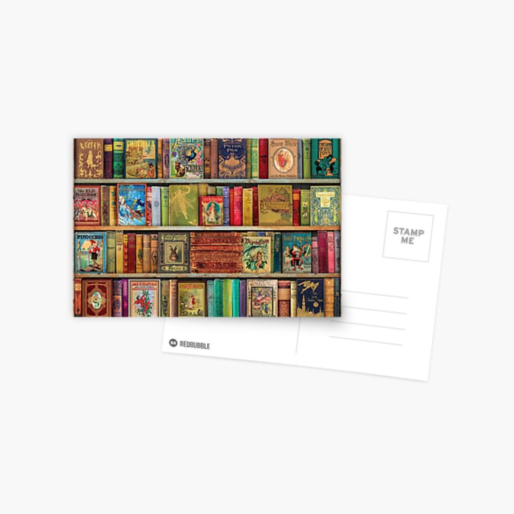 A Daydreamer's Book Shelf Postcard