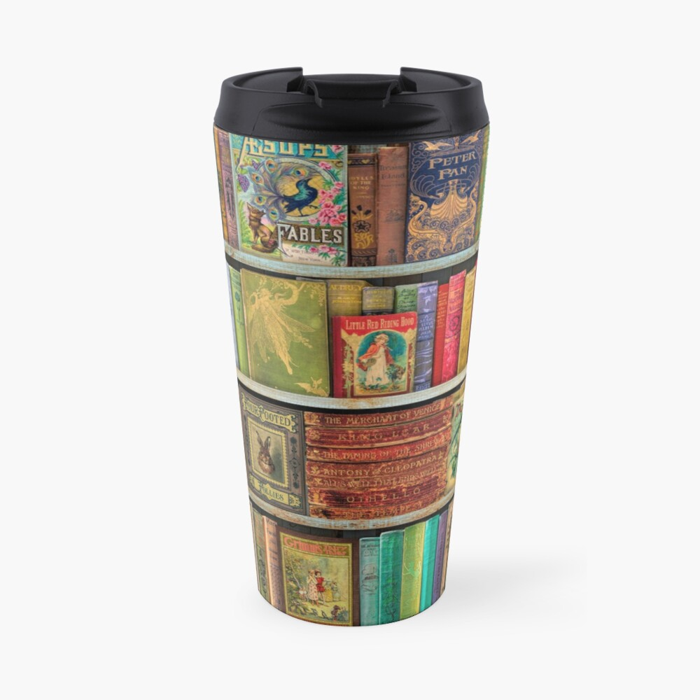 A Daydreamer's Book Shelf Travel Mug