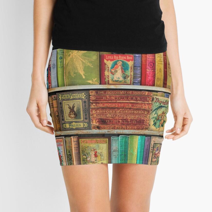 A Daydreamer's Book Shelf Mini Skirt