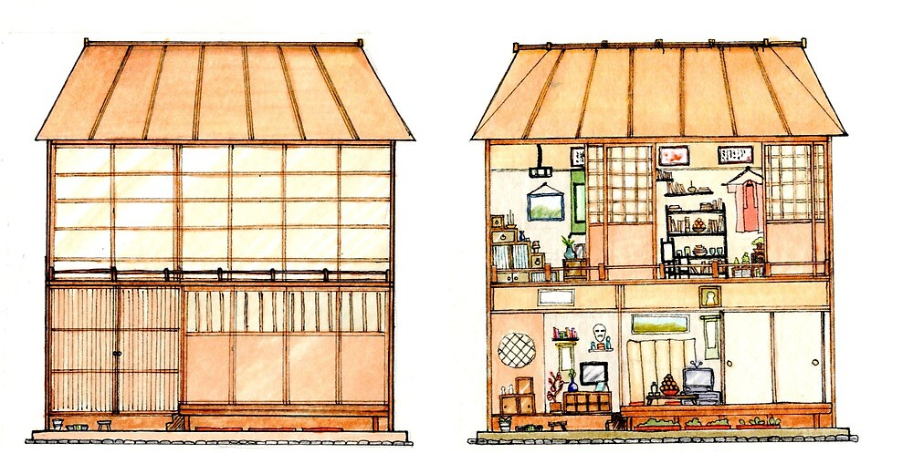 Japanese Mini Dollhouse by karikun