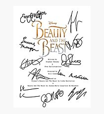 Beauty And The Beast Script Photographic Print