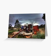 Old Tractor Pump Greeting Card