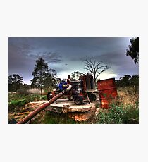 Old Tractor Pump Photographic Print