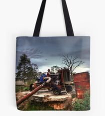 Old Tractor Pump Tote Bag