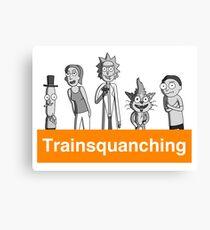 Trainsquanching Canvas Print