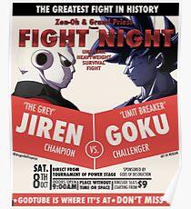 Goku Vs. Jiren Boxing Poster Poster