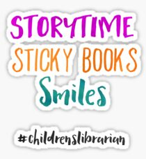 Storytime Sticky Books Smiles - Childrens Librarian Sticker