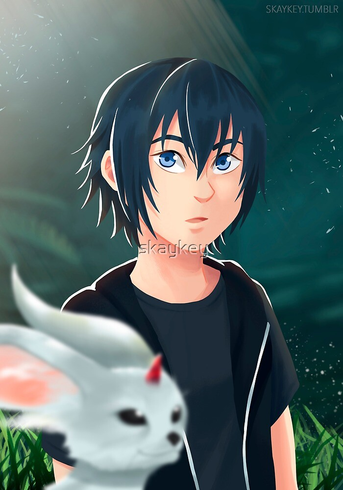 Young Noctis And Carbuncle By Skaykey Redbubble