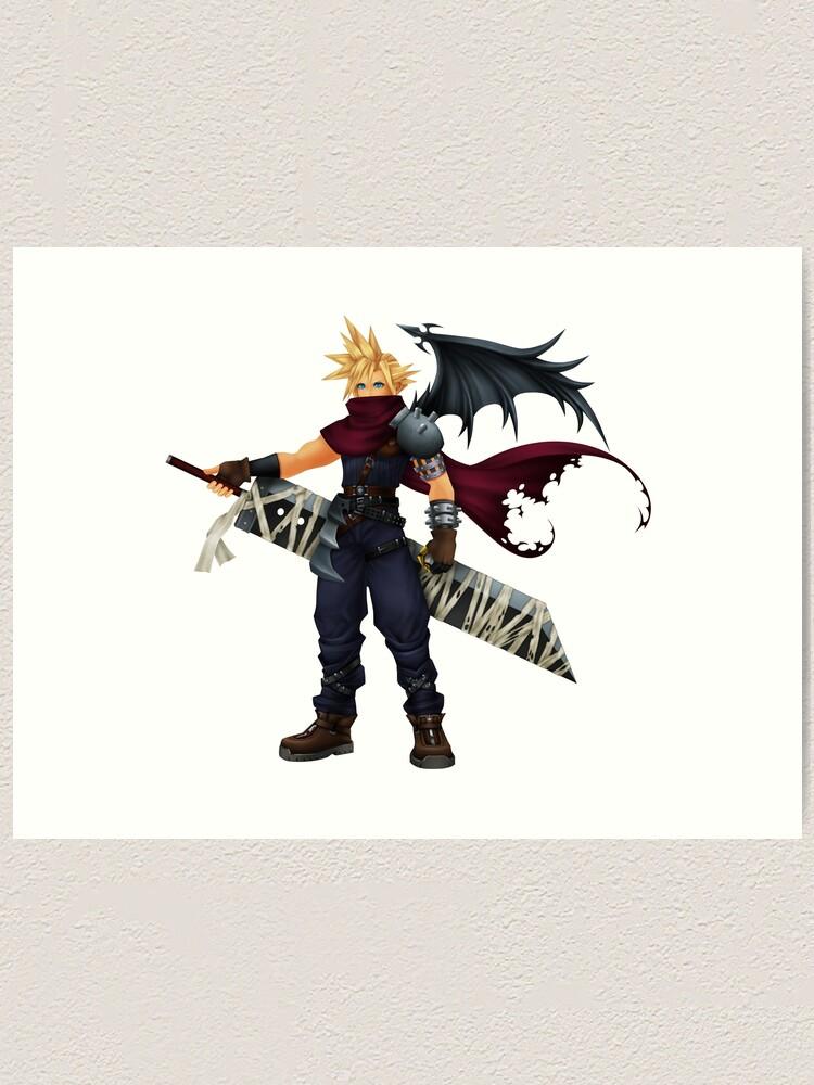 Kingdom Hearts Cloud Strife Art Print
