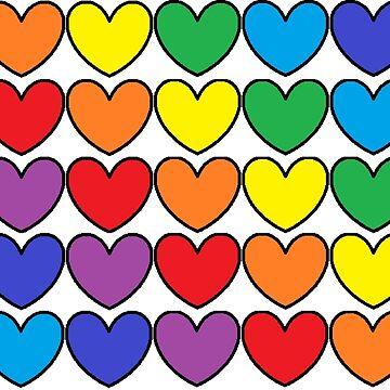 Heart Rainbow by chloemease